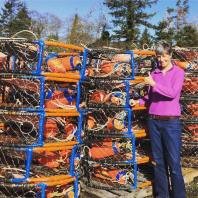 With some of the many crab pots in Ilwaco!